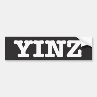 Yinz - bumper sticker