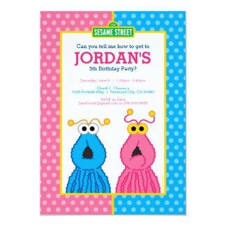 "Yip-Yips Birthday 5"" X 7"" Invitation Card"