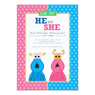 "Yip-Yips Gender Reveal 5"" X 7"" Invitation Card"
