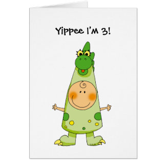 Yippee I'm 3! Greeting Card