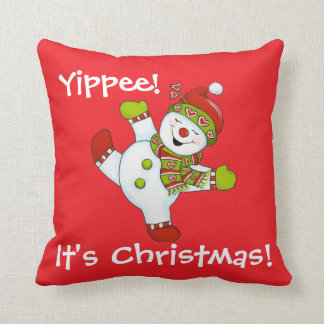 Yippee! It's Christmas! Throw Pillow