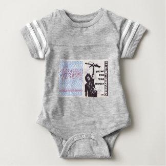 yippie! - chicago aug 1968 flyer baby bodysuit