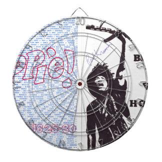 yippie! - chicago aug 1968 flyer dartboard