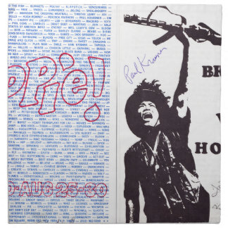 yippie! - chicago aug 1968 flyer napkin