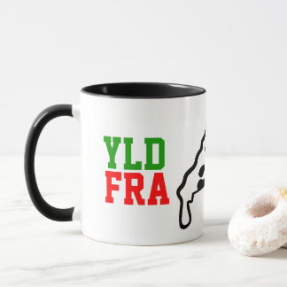 YLD FRA Pizza Logo Mug (325ml)