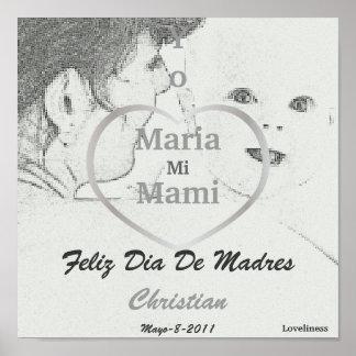 """Yo Amo a Mi Mami"" Spanish Poster-Customize Poster"