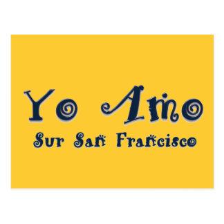 Yo Amo Sur San Francisco Postcard