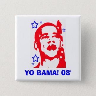 Yo Bama! 08' Star 2 Inch Square Button