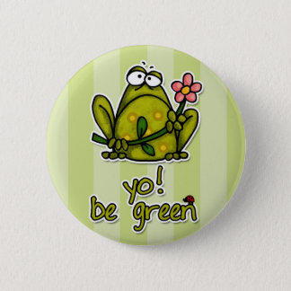 yo! be green 2 inch round button