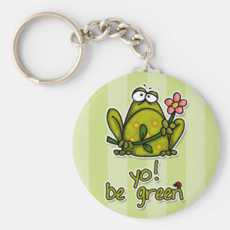 yo! be green keychain