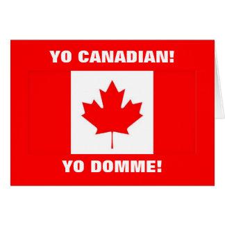 YO CANADIAN! GREETING CARD