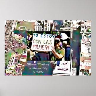 Yo Estoy Con Los Mujeres Women Marching in Mexico Poster