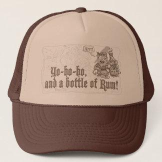 Yo Ho Ho Bottle of Pirate Rum Trucker Hat