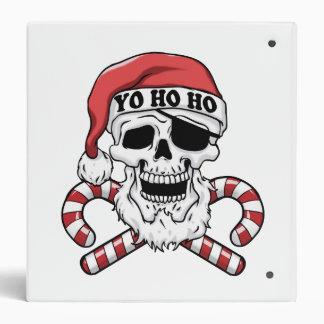 Yo ho ho - pirate santa - funny santa claus 3 ring binders