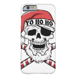 Yo ho ho - pirate santa - funny santa claus barely there iPhone 6 case