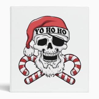 Yo ho ho - pirate santa - funny santa claus binder