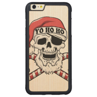 Yo ho ho - pirate santa - funny santa claus carved maple iPhone 6 plus bumper case