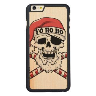 Yo ho ho - pirate santa - funny santa claus carved maple iPhone 6 plus case