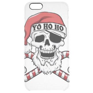 Yo ho ho - pirate santa - funny santa claus clear iPhone 6 plus case