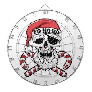 Yo ho ho - pirate santa - funny santa claus dartboard