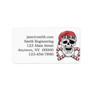 Yo ho ho - pirate santa - funny santa claus label