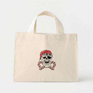 Yo ho ho - pirate santa - funny santa claus mini tote bag