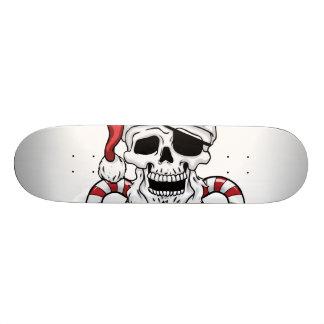 Yo ho ho - pirate santa - funny santa claus skate board deck