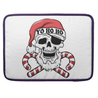 Yo ho ho - pirate santa - funny santa claus sleeve for MacBooks
