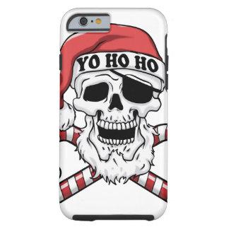Yo ho ho - pirate santa - funny santa claus tough iPhone 6 case