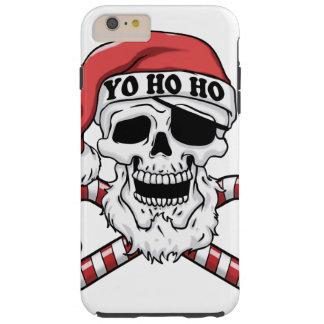 Yo ho ho - pirate santa - funny santa claus tough iPhone 6 plus case
