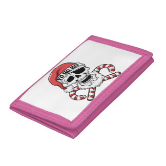 Yo ho ho - pirate santa - funny santa claus trifold wallet