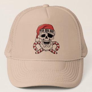 Yo ho ho - pirate santa - funny santa claus trucker hat