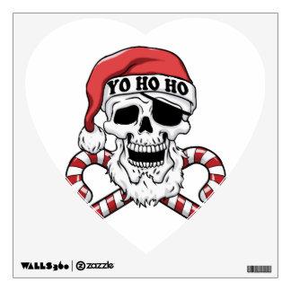 Yo ho ho - pirate santa - funny santa claus wall decal