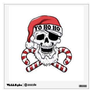 Yo ho ho - pirate santa - funny santa claus wall sticker