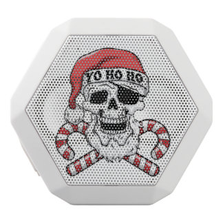 Yo ho ho - pirate santa - funny santa claus white bluetooth speaker
