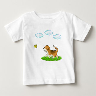 yo inside Walking Dog with Butterfly dog and chi Baby T-Shirt