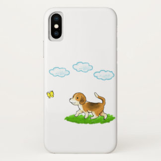 yo inside Walking Dog with Butterfly dog and chi iPhone X Case