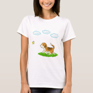 yo inside Walking Dog with Butterfly dog and chi T-Shirt