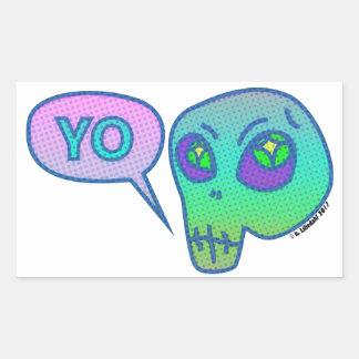 """""""Yo"""" means """"Hi"""" in alien Sticker"""