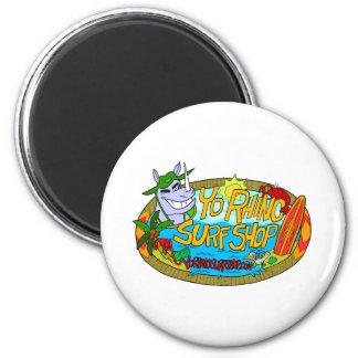 Yo Rhino Surf Shop 2 Inch Round Magnet