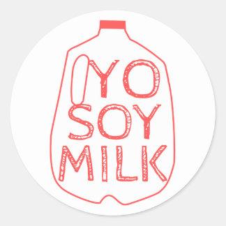 Yo Soy Milk Classic Round Sticker
