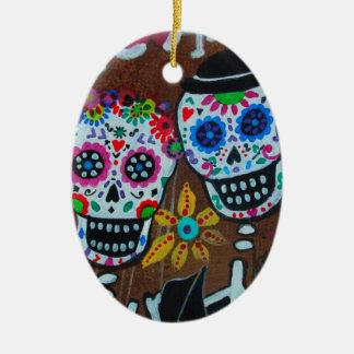 Yo Te Emo Ceramic Oval Ornament