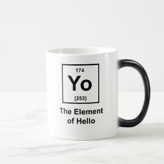 Yo! The Element of Hello 11 Oz Magic Heat Color-Changing Coffee Mug