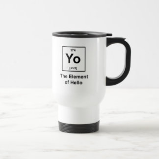 Yo! The Element of Hello 15 Oz Stainless Steel Travel Mug