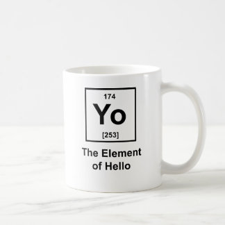 Yo! The Element of Hello Basic White Mug