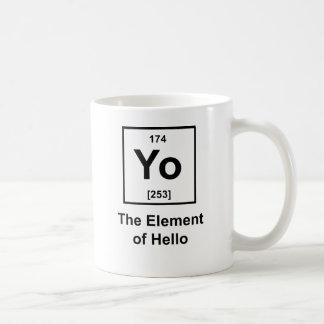 Yo! The Element of Hello Classic White Coffee Mug