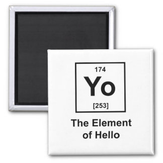 Yo! The Element of Hello Magnets