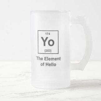 Yo The Element of Hello Mugs