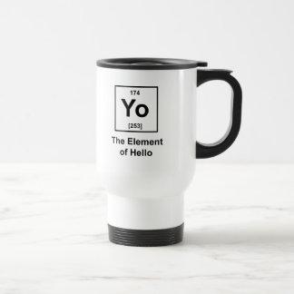 Yo! The Element of Hello Stainless Steel Travel Mug
