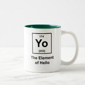 Yo! The Element of Hello Two-Tone Coffee Mug